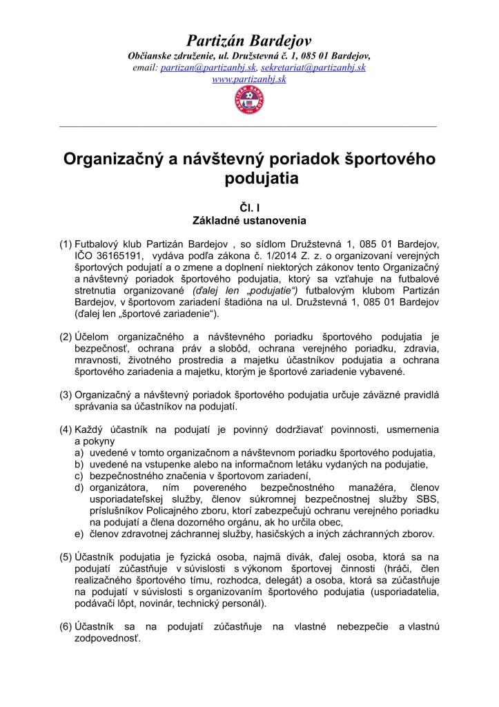 Nový Organizačný a návštevný poriadok športového podujatia 2014 (1)-1
