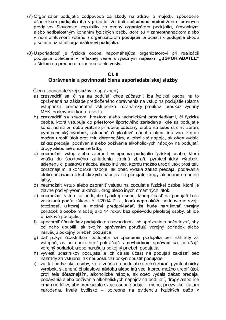 Nový Organizačný a návštevný poriadok športového podujatia 2014 (1)-2