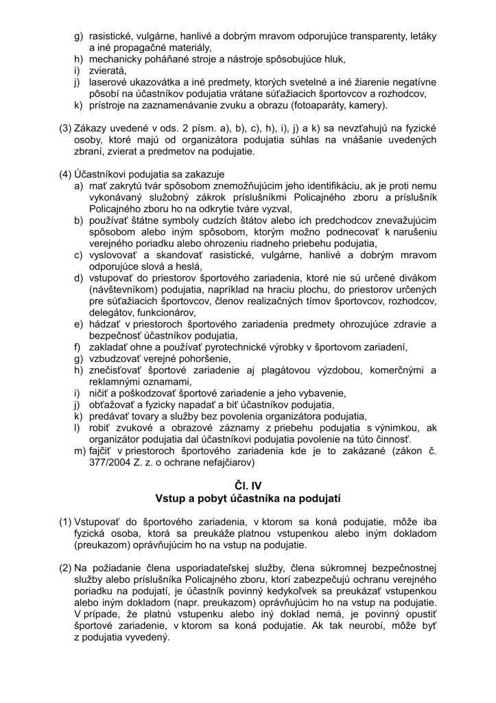 Nový Organizačný a návštevný poriadok športového podujatia 2014 (1)-4