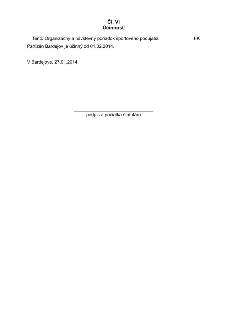 Nový Organizačný a návštevný poriadok športového podujatia 2014 (1)-6